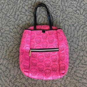 Betsey Johnson Hot Pink Skull Backpack (EUC)